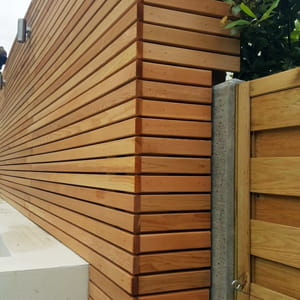 Gorgeous composite and hardwood decking, cedar Venetian fencing, stunning timber work, decking uplights, fencing and trellis handmade to size