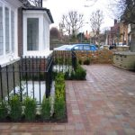 Block Paving with ornate railings in Thames Ditton