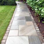 Beautiful sandstone garden path in Claygate